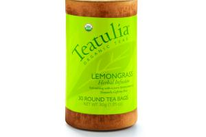 LEMONGRASS HERBAL INFUSION REFRESHING WITH A PURE LEMON ESSENCE ROUND TEA BAGS