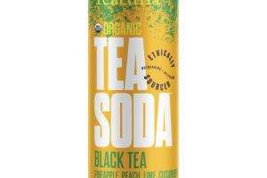 BLACK TEA PINEAPPLE, PEACH, LIME, CUCUMBER TEA SODA
