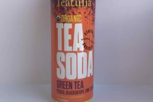 PEACH, BLACKBERRY, LIME, CILANTRO GREEN TEA TEA SODA