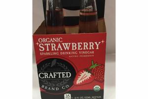 ORGANIC STRAWBERRY SPARKLING DRINKING VINEGAR