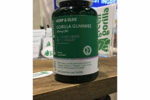 ULTRA WELLNESS BERRY MEDLEY NATURALLY FLAVORED HEMP & OLIVE 300MG CBD DIETARY SUPPLEMENT GORILLA GUMMIES