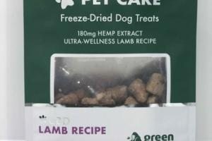 CBD LAMB RECIPE HEMP & OLIVE PET CARE FREEZE-DRIED DOG TREATS