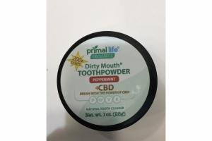 +CBD DIRTY MOUTH TOOTHPOWDER, PEPPERMINT