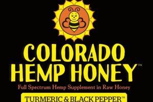 TURMERIC & BLACK PEPPER FULL SPECTRUM HEMP SUPPLEMENT IN RAW HONEY