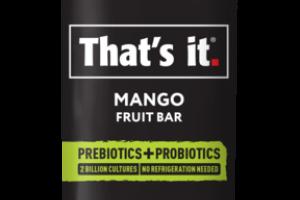 NO SUGAR ADDED MANGO FRUIT BAR
