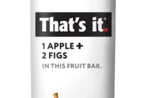 1 APPLE + 2 FIGS IN THIS FRUIT BAR.