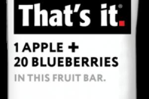 1 APPLE + 20 BLUEBERRIES FRUIT BAR