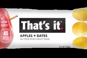APPLES + DATES MINI FRUIT BAR