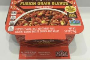 FUSION GRAIN BLENDS CHIPOTLE SAUCE, RICE, VEGETABLES PLUS ANCIENT GRAINS BARLEY, QUINOA AND MILLET SMOKY CHIPOTLE