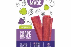 ORGANIC GRAPE FRUIT ROLLS