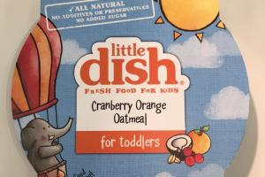 Cranberry Orange Oatmeal For Toddlers