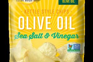 SEA SALT & VINEGAR OLIVE OIL KETTLE STYLE CHIPS