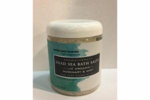 AROMATHERAPY DEAD SEA BATH SALTS WITH ORGANIC ROSEMARY & MINT