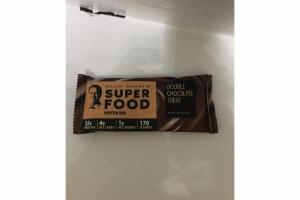 DOUBLE CHOCOLATE TREAT SUPER FOOD PROTEIN BAR