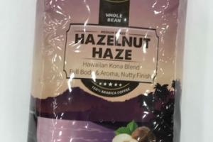 MEDIUM ROAST HAZELNUT HAZE HAWAIIAN KONA BLEND HENEPLEX INFUSED 100% WHOLE BEAN ARABICA COFFEE