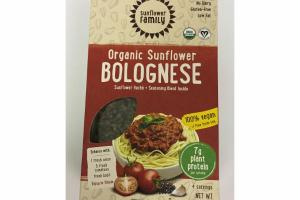ORGANIC SUNFLOWER BOLOGNESE, SUNFLOWER HACHE + SEASONING BLEND INSIDE