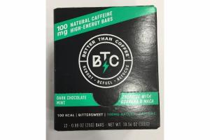 DARK CHOCOLATE MINT NATURAL CAFFEINE HIGH-ENERGY BARS
