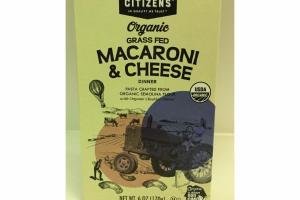 ORGANIC GRASS FED MACARONI & CHEESE DINNER