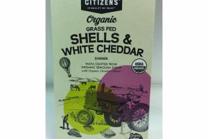 ORGANIC GRASS FED SHELLS & WHITE CHEDDAR DINNER