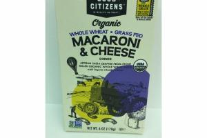 ORGANIC WHOLE WHEAT MACARONI & CHEESE DINNER