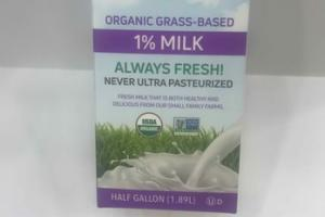 ORGANIC GRASS-BASED 1% MILK