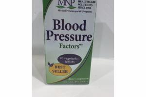 BLOOD PRESSURE FACTORS DIETARY SUPPLEMENT VEGETARIAN TABLETS