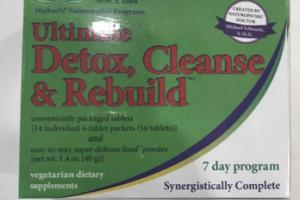 ULTIMATE DETOX, CLEANSE & REBUILD VEGETARIAN DIETARY SUPPLEMENTS