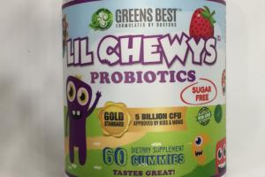 Lil Chewy's Probiotics Dietary Supplement