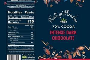 70% COCOA INTENSE DARK CHOCOLATE