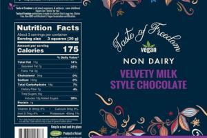 VELVETY MILK STYLE CHOCOLATE