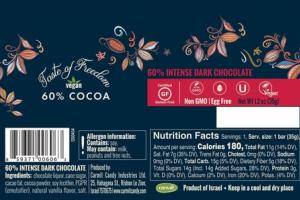 60% COCOA INTENSE DARK CHOCOLATE