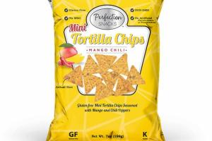 GLUTEN-FREE MINI TORTILLA CHIPS SEASONED WITH MANGO AND CHILI PEPPERS