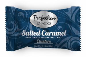 SALTED CARAMEL DARK CHOCOLATE PRETZEL TWIST CLUSTERS