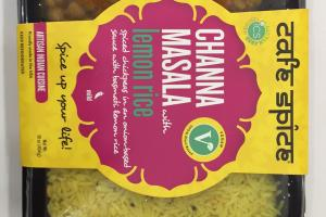 Channa Masala With Lemon Rice