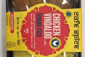 Chicken Vindaloo With Lemon Rice
