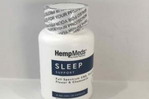 SLEEP SUPPORT FULL SPECTRUM CBD, PASSION FLOWER &  CHAMOMILE 15 MG CBD DIETARY SUPPLEMENTS CAPSULES