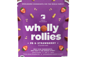 PB & STRAWBERRY WHOLLY ROLLIES PROTEIN BALLS