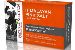 PORE CLEANSING & SMOOTH COMPLEXION HIMALAYAN PINK SALT FACE & BODY BAR, NATURAL CHARCOAL