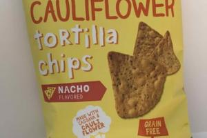 NACHO FLAVORED CAULIFLOWER TORTILLA CHIPS