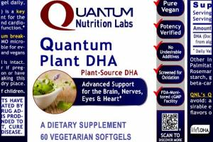 QUANTUM PLANT DHA, A DIETARY SUPPLEMENT VEGETARIAN SOFTGELS