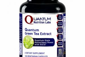 QUANTUM GREEN TEA EXTRACT A DIETARY SUPPLEMENT VEGETARIAN CAPSULES