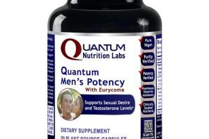 QUANTUM MEN'S POTENCY WITH EURYCOMA DIETARY SUPPLEMENT PLANT-SOURCE CAPSULES