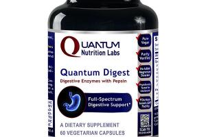 QUANTUM DIGEST DIGESTIVE ENZYMES WITH PEPSIN A DIETARY SUPPLEMENT VEGETARIAN CAPSULES