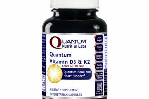 QUANTUM VITAMIN D3 & K2 5,000 IU/180 MCG DIETARY SUPPLEMENT VEGETARIAN CAPSULES