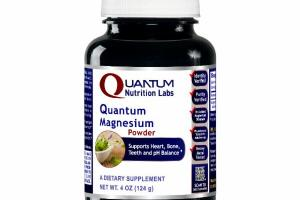 QUANTUM MAGNESIUM POWDER SUPPORTS HEART, BONE, TEETH AND PH BALANCE A DIETARY SUPPLEMENT