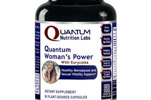 QUANTUM WOMAN'S POWER WITH EURYCOMA PLANT-SOURCE CAPSULES DIETARY SUPPLEMENT