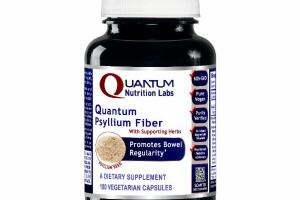 QUANTUM PSYLLIUM FIBER WITH SUPPORTING HERBS PROMOTES BOWEL REGULARITY A DIETARY SUPPLEMENT VEGETARIAN CAPSULES