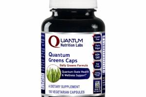 QUANTUM DAILY GREENS CAPS FORMULA A DIETARY SUPPLEMENT VEGETARIAN CAPSULES