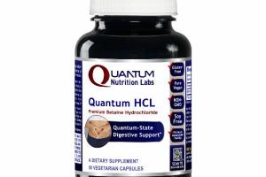 QUANTUM HCL PREMIUM BETAINE HYDROCHLORIDE DIGESTIVE SUPPORT A DIETARY SUPPLEMENT VEGETARIAN CAPSULES