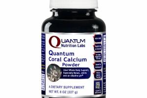 QUANTUM CORAL CALCIUM POWDER IDEAL WHOLE BODY SUPPORT, ESPECIALLY BONES, JOINTS AND AN ALKALINE PH DIETARY SUPPLEMENT